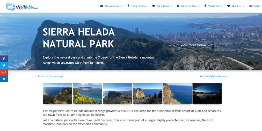 Nye turist webside